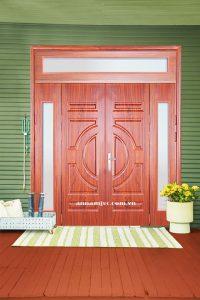 cửa thép vân gỗ nhiều cánh